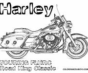 Coloriage Harley Davidson Road King Classic