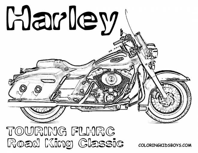 Coloriage et dessins gratuits Harley Davidson Road King Classic à imprimer