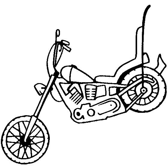 Coloriage et dessins gratuits Harley Davidson simple à imprimer