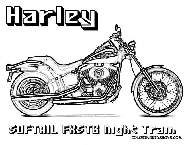 Coloriage et dessins gratuits Harley Davidson Softail Night Train à imprimer