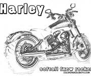 Coloriage et dessins gratuit Harley Davidson Softail Rocker à imprimer