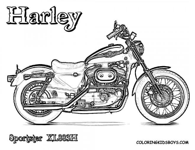 Coloriage et dessins gratuits Harley Davidson Sportster à imprimer