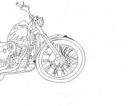 Coloriage et dessins gratuit Harley Davidson stylisé à imprimer