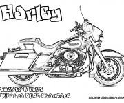 Coloriage et dessins gratuit Harley Davidson Touring à imprimer