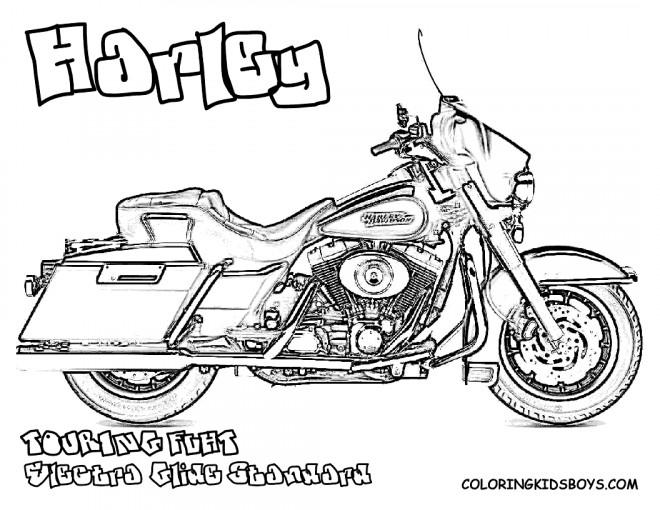 Coloriage et dessins gratuits Harley Davidson Touring à imprimer