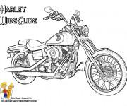 Coloriage et dessins gratuit Harley Wide Glide à imprimer