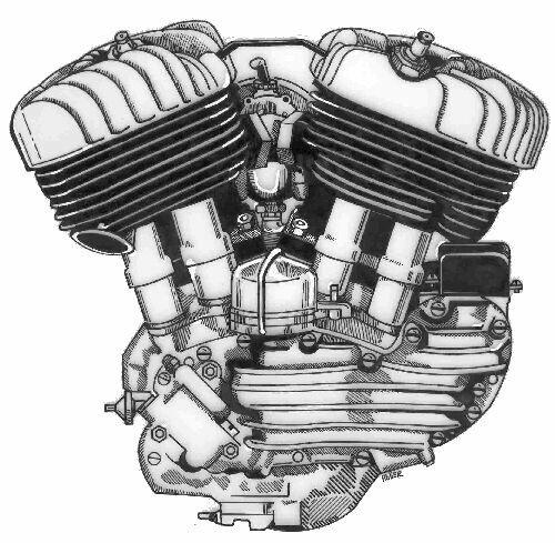 Coloriage et dessins gratuits Le Moteur nerveux de Harley Davidson à imprimer