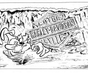 Coloriage et dessins gratuit Logo Harley Davidson à imprimer