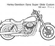 Coloriage et dessins gratuit Moto Harley Davidson à imprimer
