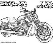 Coloriage et dessins gratuit Moto Harley Davidson puissante à imprimer