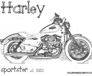 Coloriage Moto Harley Davidson Sportster