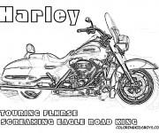 Coloriage et dessins gratuit Moto Harley Davidson Touring à imprimer