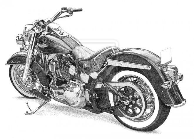 Coloriage et dessins gratuits Portrait Harley Davidson magnifique à imprimer
