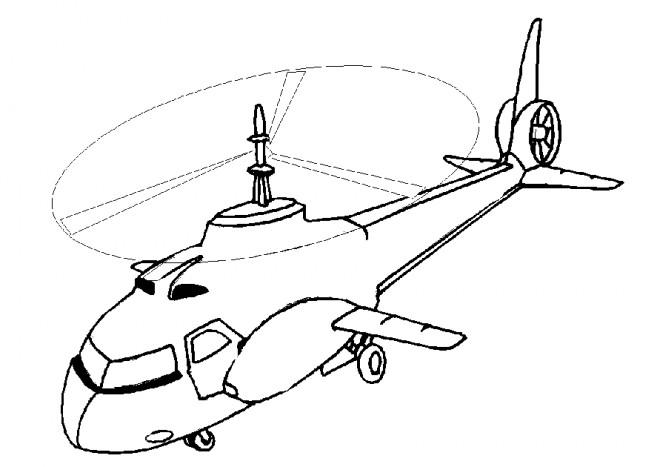 Coloriage et dessins gratuits Grand Hélicoptère à imprimer