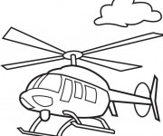 Coloriage Helicoptere 15