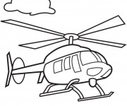 Coloriage Helicoptere 4