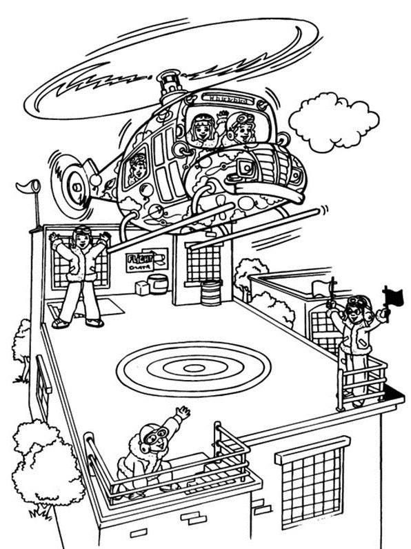 Coloriage Helicoptere 41 dessin gratuit à imprimer