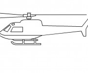 Coloriage et dessins gratuit Hélicoptère à compléter à imprimer