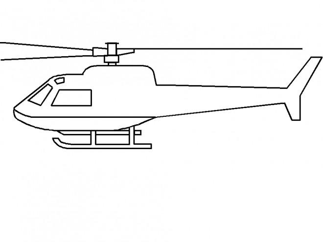 Coloriage et dessins gratuits Hélicoptère à compléter à imprimer
