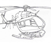 Coloriage Hélicoptère à décorer