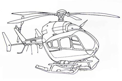 Coloriage et dessins gratuits Hélicoptère à décorer à imprimer
