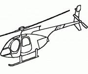 Coloriage Hélicoptère à télécharger