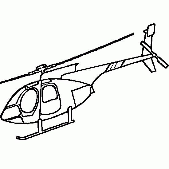 Coloriage et dessins gratuits Hélicoptère à télécharger à imprimer