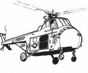 Coloriage et dessins gratuit Hélicoptère américain à imprimer