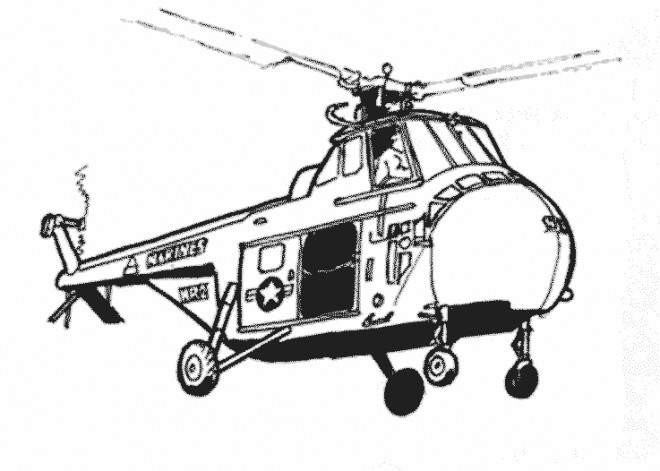 Coloriage Hélicoptère Américain