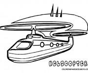 Coloriage Hélicoptère artistique