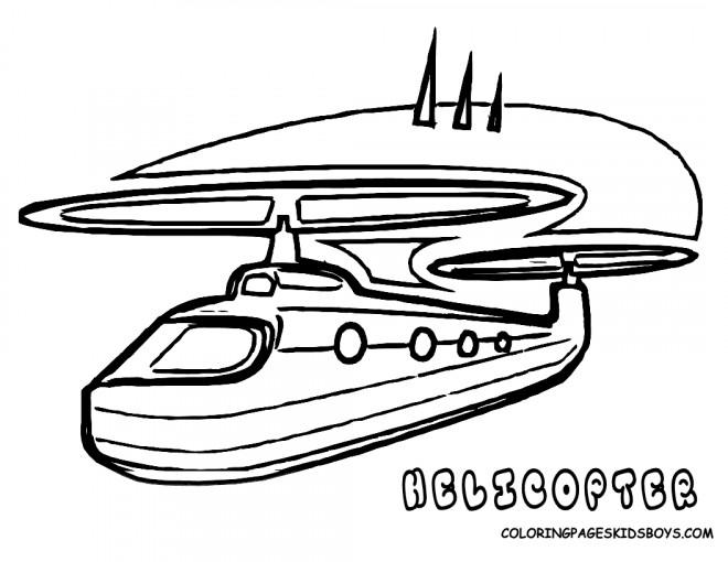 Coloriage et dessins gratuits Hélicoptère artistique à imprimer