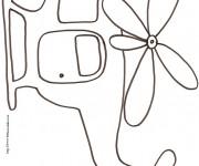 Coloriage et dessins gratuit Hélicoptère au crayon à imprimer