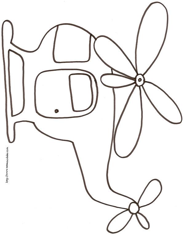 Coloriage et dessins gratuits Hélicoptère au crayon à imprimer