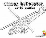 Coloriage Hélicoptère d'attaque