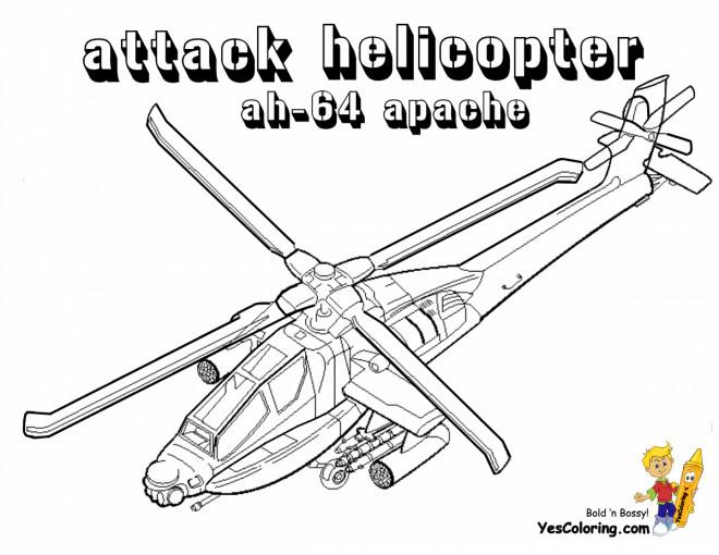 Coloriage et dessins gratuits Hélicoptère d'attaque à imprimer