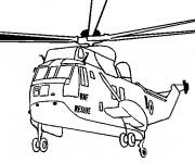 Coloriage Hélicoptère de guerre à découper