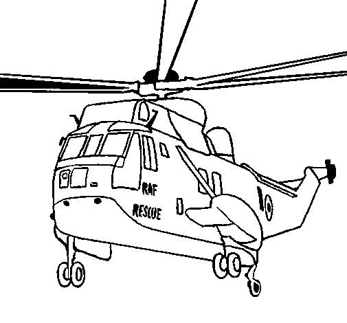 Coloriage et dessins gratuits Hélicoptère de guerre à découper à imprimer