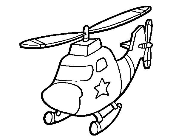 Coloriage Hélicoptère De Police En Couleur