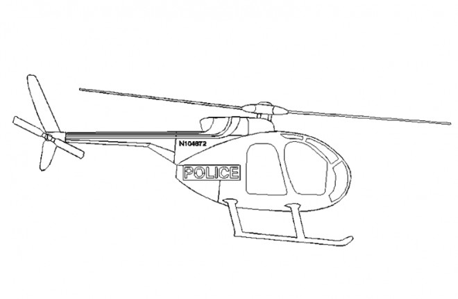 Coloriage Helicoptere De Police Facile Dessin Gratuit à Imprimer