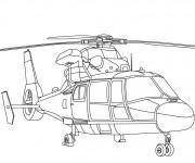 Coloriage et dessins gratuit Hélicoptère de pompier à imprimer
