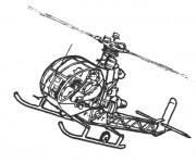 Coloriage Hélicoptère de surveillance