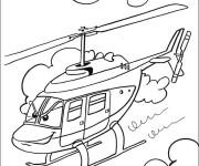 Coloriage Hélicoptère dessin animé
