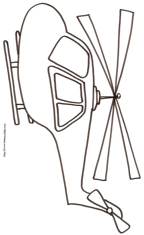 Coloriage et dessins gratuits Hélicoptère dessiné par le crayon à imprimer