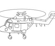 Coloriage Hélicoptère en décollage