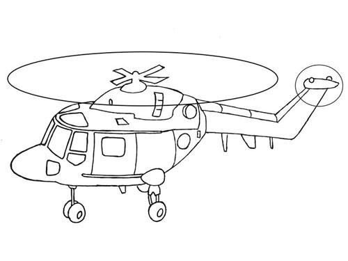 Coloriage et dessins gratuits Hélicoptère en décollage à imprimer
