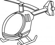 Coloriage et dessins gratuit Hélicoptère en ligne à imprimer