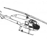 Coloriage Hélicoptère en noir et blanc