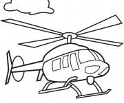 Coloriage et dessins gratuit Hélicoptère en vol à imprimer