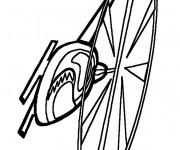 Coloriage Hélicoptère en vol maternelle