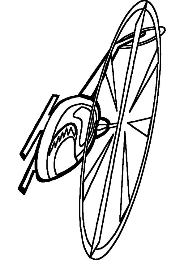 Coloriage et dessins gratuits Hélicoptère en vol maternelle à imprimer
